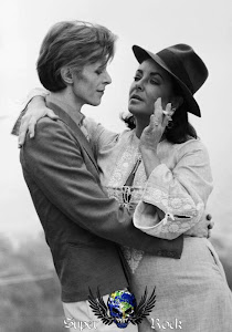 David Bowie com Elizabeth Taylor