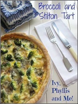 BROCCOLI AND STILTON TART