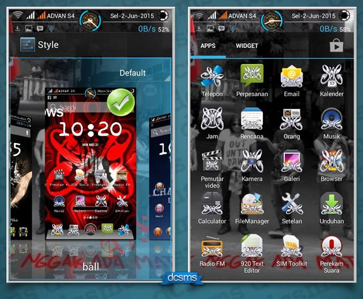 Custom ROM XPERIA SPARK for Advan S4 - Riowachid Blog