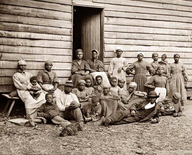 Esclavos en el sur, en 1862