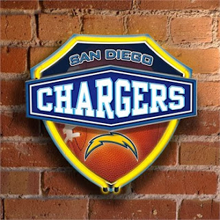 San Diego Chargers NFL Neon Shield Wall Lamp