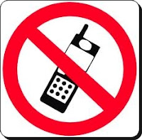 Placa proibido celular