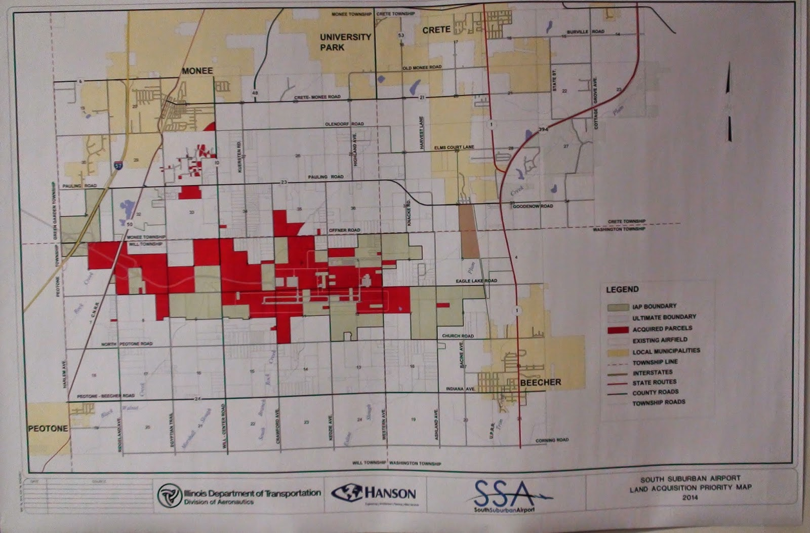 Illinois will county peotone - Map Of Peotone Airport Aka South Suburban Airport Land Purchased By The State Of Illinois Early 2014