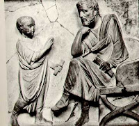 Maestro y discípulo romanos