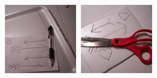 Valentines Using Foam Plate Printing by 504 Main