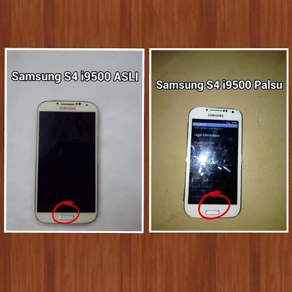Perbedaan Samsung Galaxy S4 asli dan replika