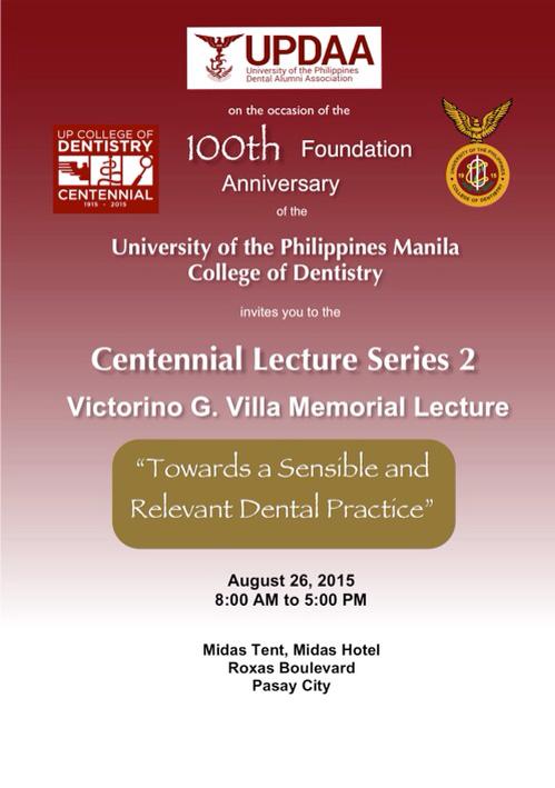 Centennial Lecture Series 2