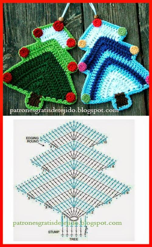 Patrón de Pino de navidad al crochet