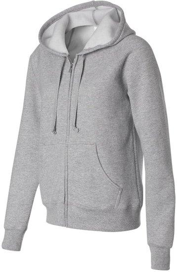 Womens Grey Full Zip Hoodie