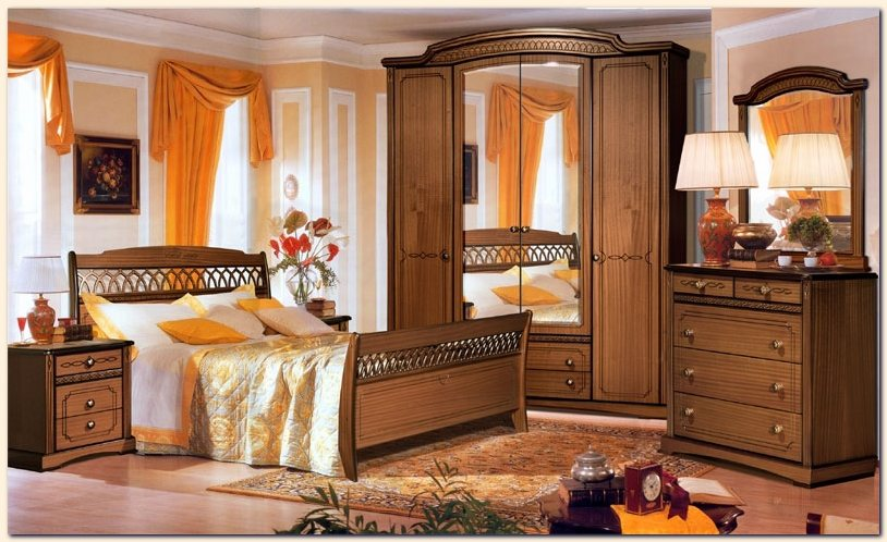 Art d co chambre a coucher bois nirgos for Art et decoration chambre adulte