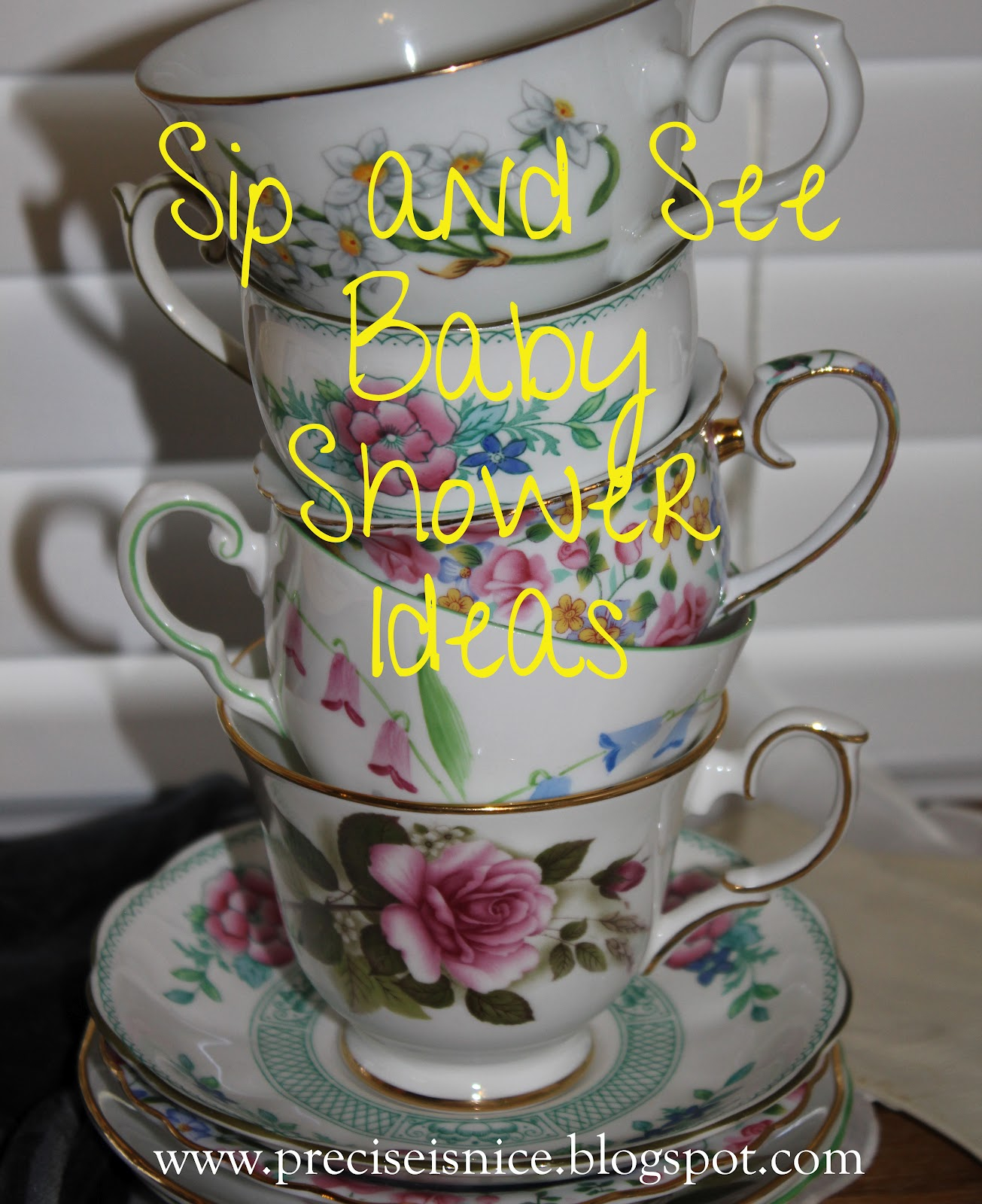 precise is nice sip and see baby shower tea party style