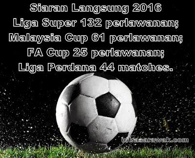 262 perlawanan Liga Malaysia 2016 disiarkan secara langsung