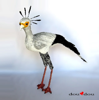 Secretary Bird Sculpture