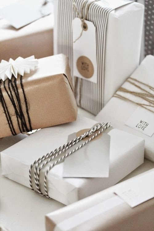 white paper gift wrap DIY