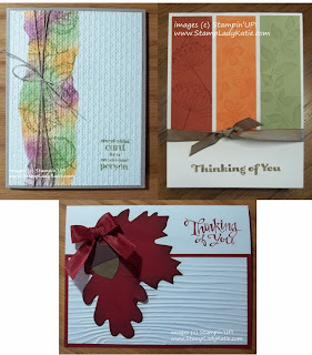 Fall cards made with Stampin'UP! product