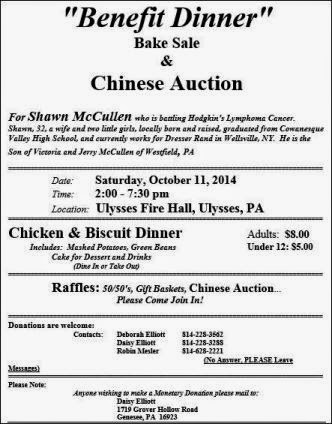10-11 Benefit Dinner For Shawn McCullen