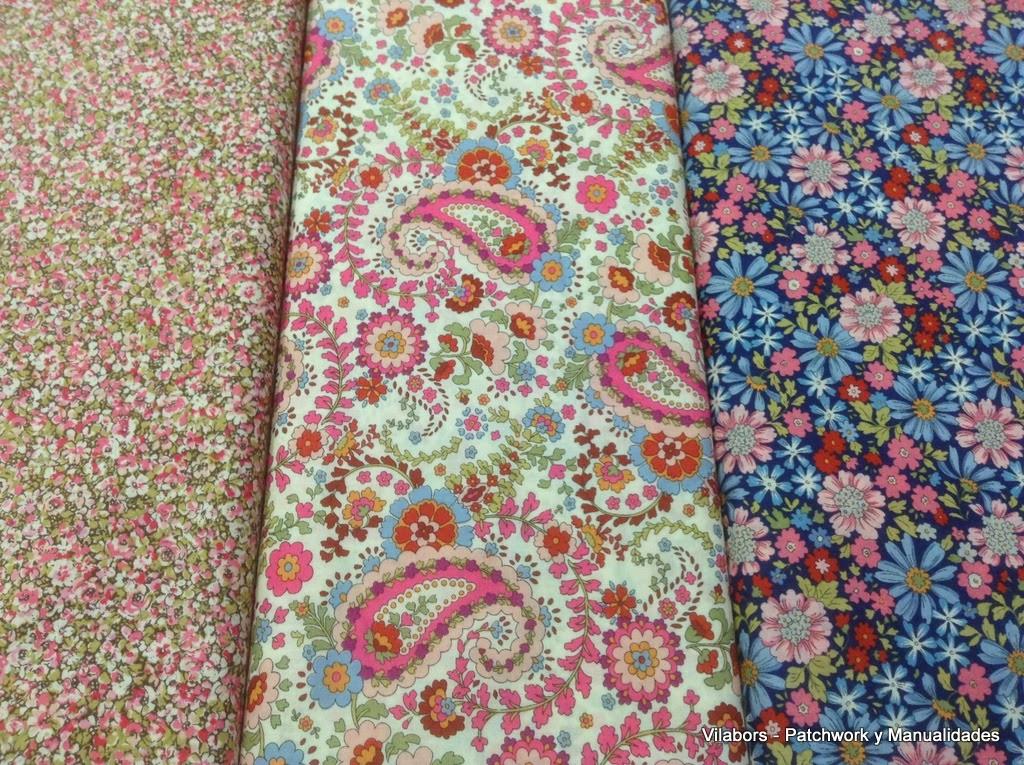 Telas muy floridas de Moda Fabrics - Patchwork Vilabors