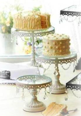 Favorite things home decor beautiful cake stands just for Beautiful cake stands