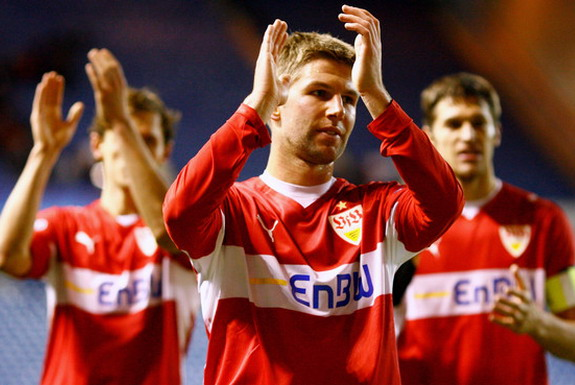 Thomas Hitzlsperger captained Stuttgart to the Bundesliga title in 2007
