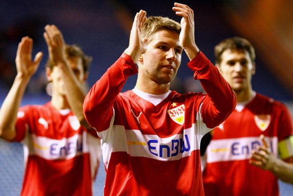 Thomas Hitzlsperger captained Stuttgart to the Bundesliga title in 2007