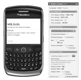 blogger mobile on blackberry