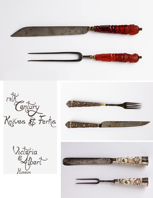 17th Century Knives and Forks
