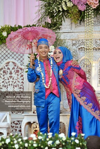 10 Gambar Kebaya Pengantin Muslim Modern,