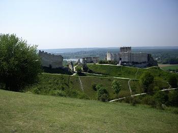 les vestiges de la forteresse de Chateaugaillard
