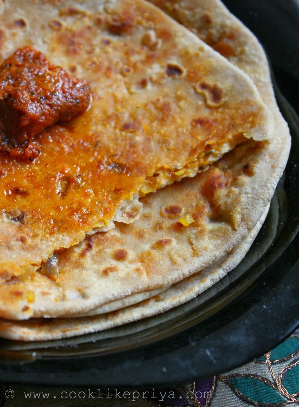 Paneer Stuffed Paratha | Pickled Paneer Paratha Recipe | Achari Paneer ...