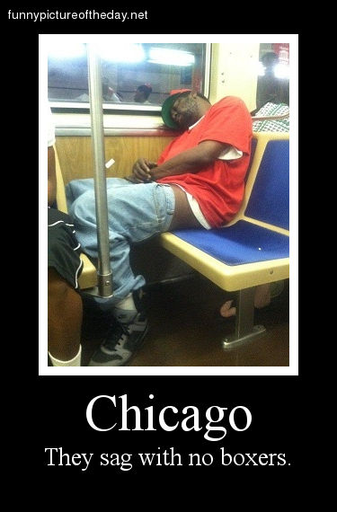Chicago Funny Sagging Pants