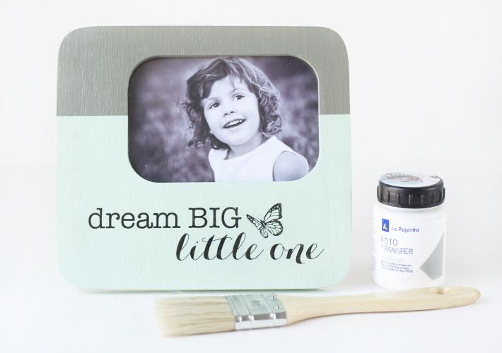 DIY: marco de fotos decorado con chalk paint y transferencia de imagenes