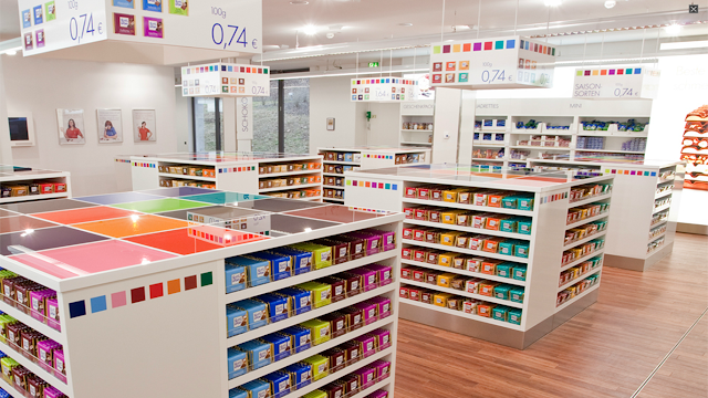 Ritter Sport shop in Waldenbuch Germany