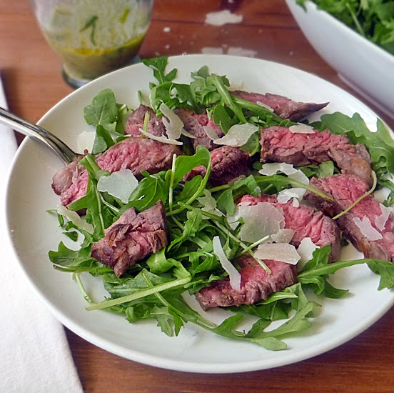 Grilled Steak with Arugula Salad | Life Tastes Good