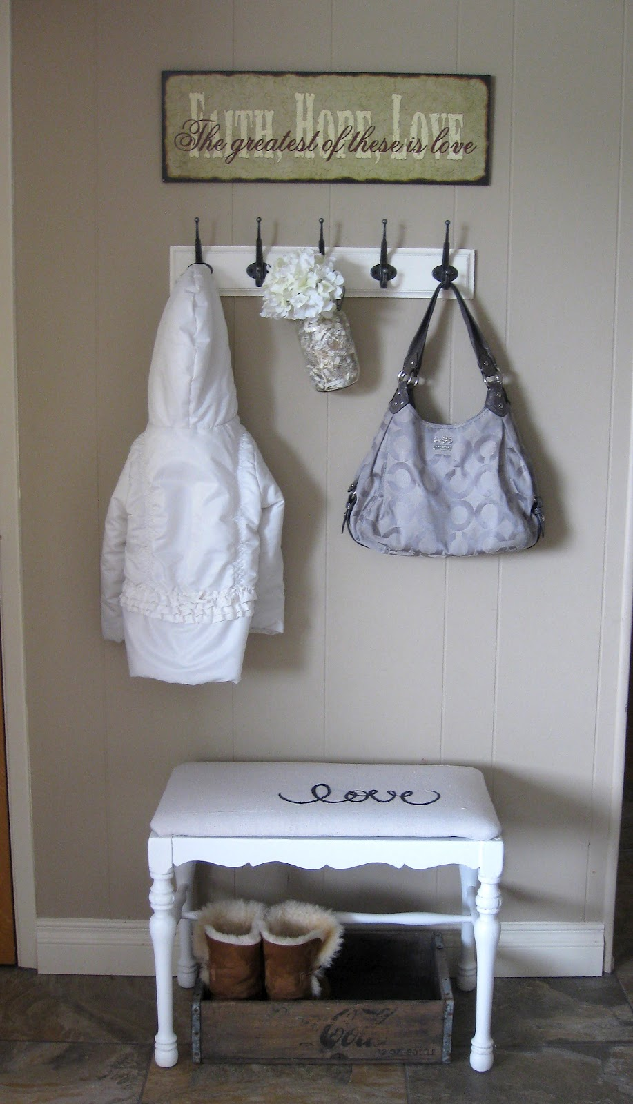 Small Foyer Makeovers : Entryway mini mudroom and bench makeover yellow bliss road