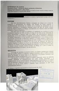 Denuncia ante la Fiscalía por el caso Hoyo de Esparteros y Pasillo de Atocha en Málaga