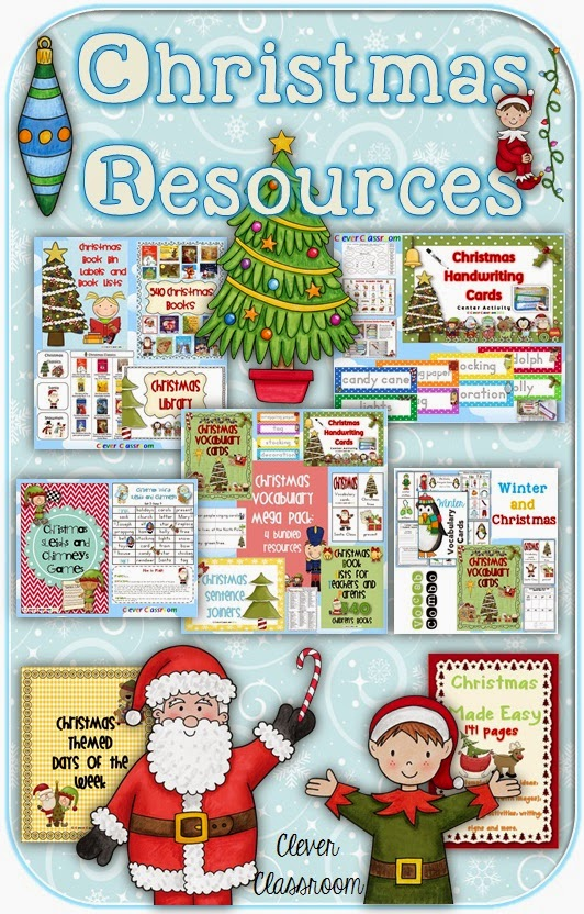 Christmas resources and a booktivity