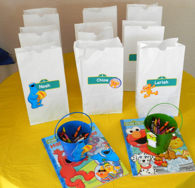 Sesame Street Twins Birthday: Treat Bags
