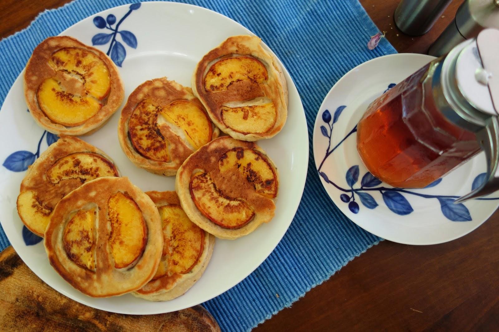 milk and blackberries: Banana-Java Pancakes and Peach-Sour Cream ...