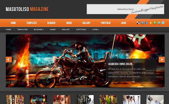 Free Magazine Blogger Template
