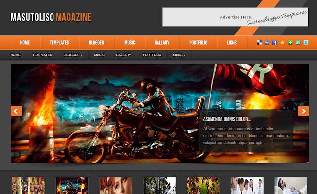 Masutoliso Magazine - Blogger Template