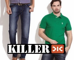 Min 70% Off on Killer Men's Clothing @ Flipkart
