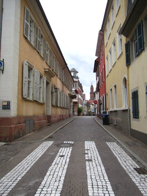 Street scene in Heidelberg, Germany.