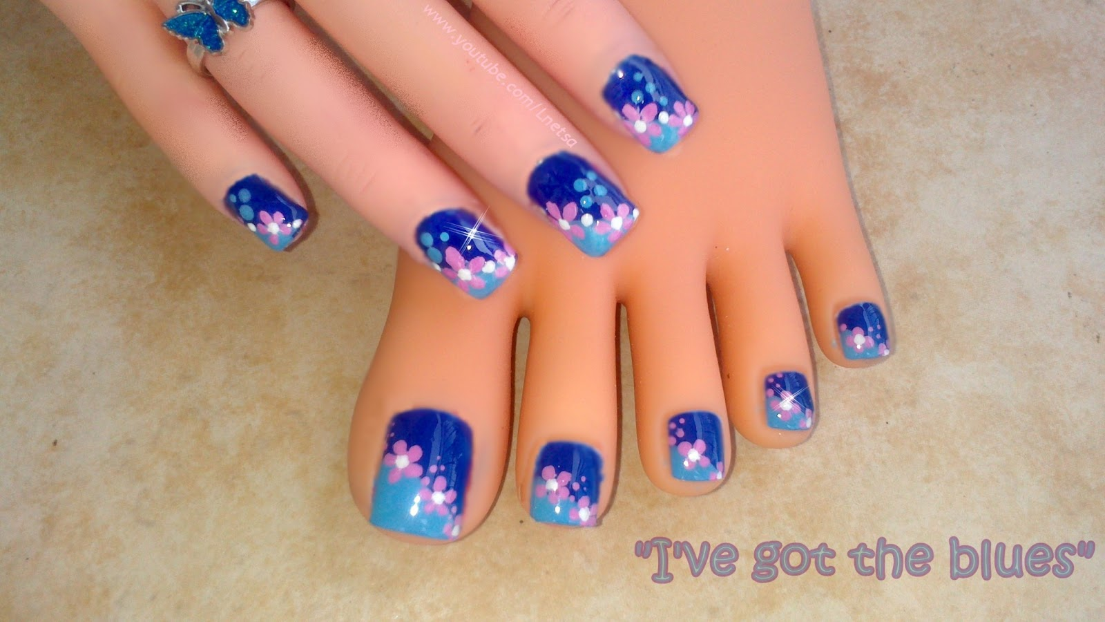 Lnetsa s nailart toe nail design and short nails version i toe nail design and short nails version i ve got the blues prinsesfo Gallery