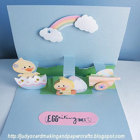 Judys Handmade Creations Easter pop up Card – Easter Pop Up Cards