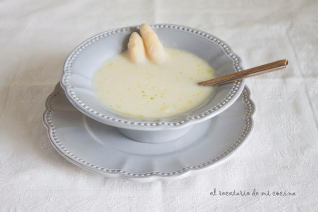 crema de esparragos blancos