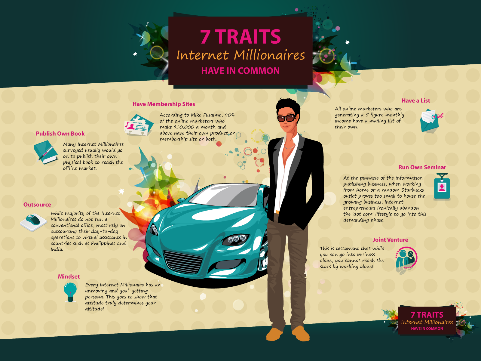 7 Traits internet millionaires have in common, How To Be A Rich Internet Marketer [INFOGRAPHIC]