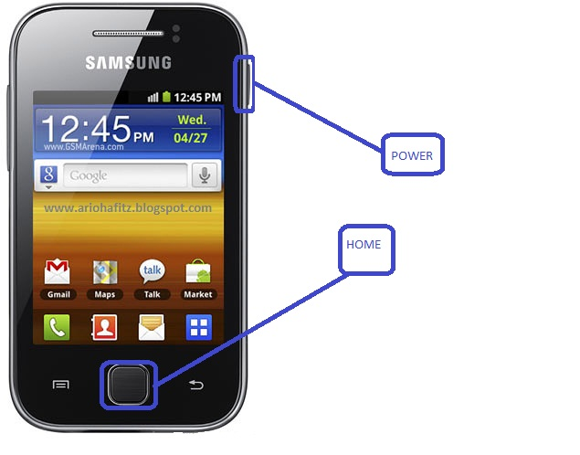 ScreenShot pada hp Samsung Galaxy young