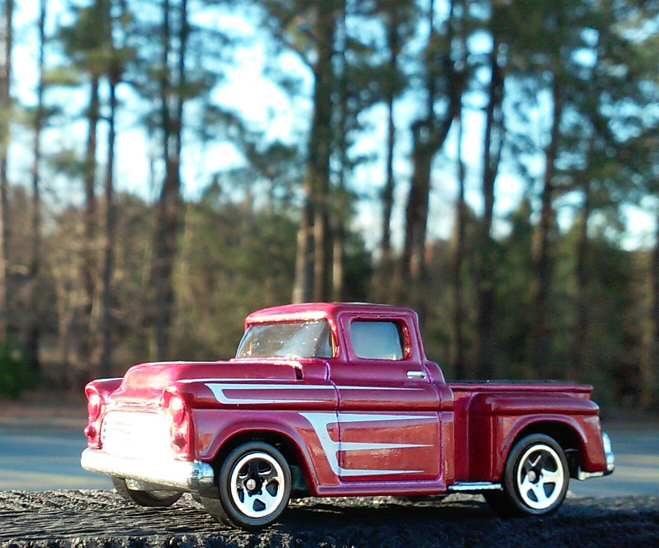 Daily Diecast Car Hot Wheels 1957 Chevrolet Stepside Pickup Chevy Truck
