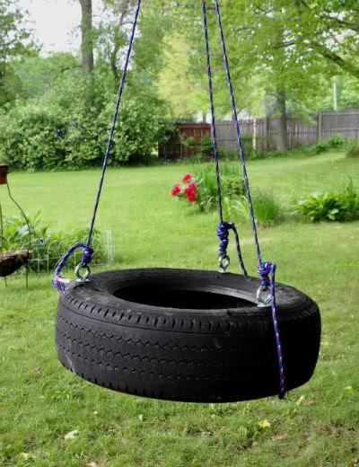marvelously messy backyard tire swing project