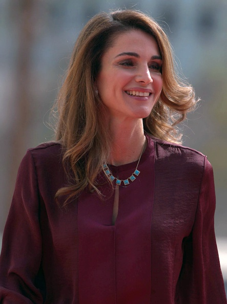 Queen Rania attends the second regular session of the parliament in Amman